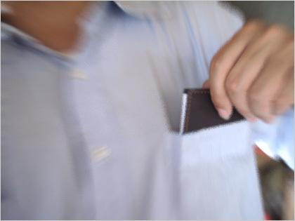 自作版薄いメモ帳をポケットにイン