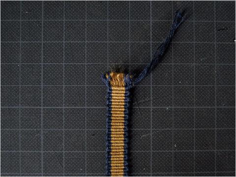 真田紐の端処理(1)