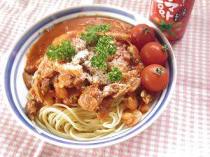 トマトソースのシーフードスパゲティ