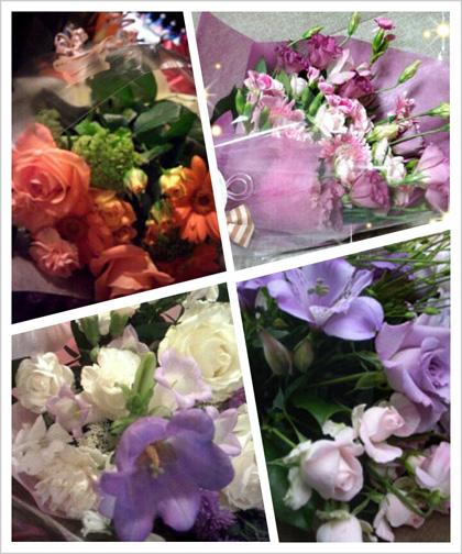今まで買った花束です。
